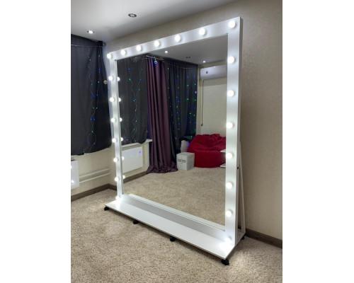Гримерное зеркало с подсветкой и подставкой 200х175