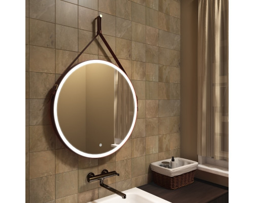 Зеркало с подсветкой для ванной комнаты Миллениум Браун